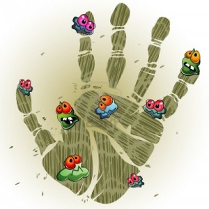 12253447-print-of-dirty-palm-with-cartoon-germs